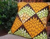 FONDUE : African Wax Print Pillows and Curtains