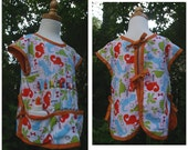 Child's Art Apron - Size S - Cotton - Washable - Dinosaurs - Ready to Ship