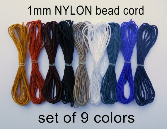 Nylon Bead Cord - for Shamballa Style Bracelets - Set of 9 Colors