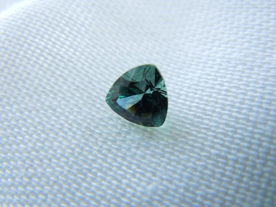 Reserved: Custom Listing Genuine Montana Sapphires Teal Trillion Cut Matched Pair