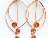 EGYPTIAN CHIMES II -  Copper Dangle Earrings