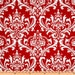 """CLEARANCE - Only One 11X44"""" Red and White Damask Table Runner -"""