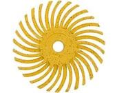 3M Radial Disc 3/4 Inch - 80 Grade Yellow - 1 Dozen - Fire-Scale Removal - Polishing Finishing Tool - Jewelry Making Tool