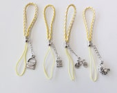 Lariat Lanyard Mobile Cell Phone Strap - 4 Friendship Cell Phone Straps with charm