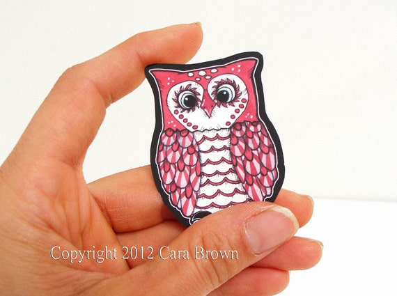 Owl Car Window Sticker Vinyl Decal you choose color small baby size