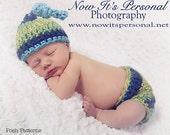Crochet PATTERN - Crochet Hat Pattern - Diaper Cover Pattern - Crochet Patterns Baby - Baby Crochet Pattern - Photo Prop Pattern - PDF 205