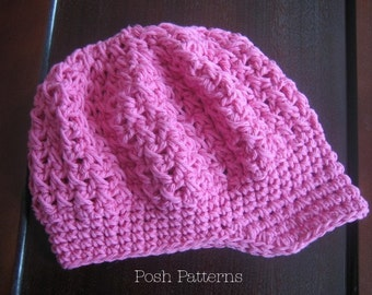 Crochet PATTERN - Crochet Hat Pattern - Newsboy Visor Hat Pattern - PDF 243 - Includes 6 Sizes Newborn Baby to Adult