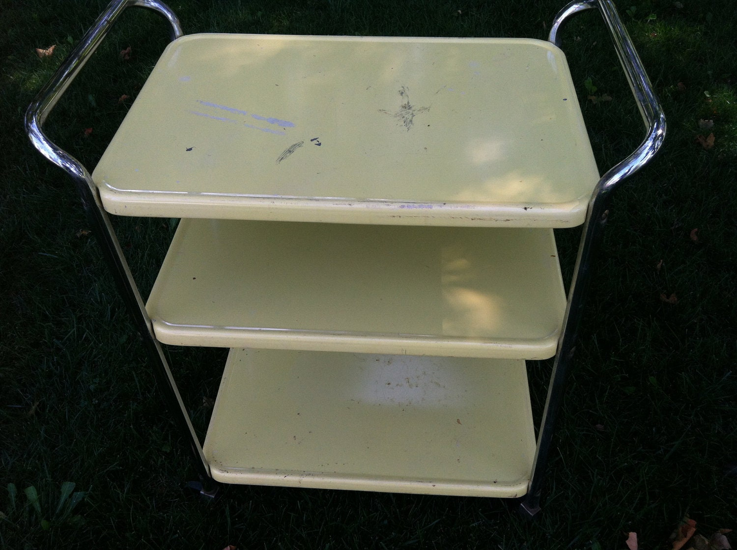Vintage cosco kitchen utility cart by prairietreasure on etsy for Kitchen utility cart