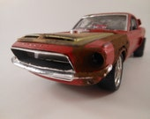 1967/68 Mustang Shelby 1/24 scale model car in red