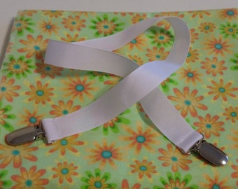 Nursing Cover  Baby Blanket - Spring Flowers Flannel Fabric Nursing Cover Clip