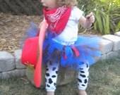Cowgirl Tutu Set Sizes 18-24 mos - 2/3 - 4/5 - 6/7