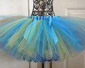 Tutu Fancy Peacock Colors Size 0-5T Custom Made to Order