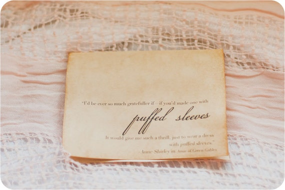 Puffed Sleeves Anne Of Green Gables Card