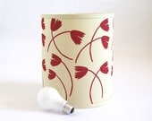 SALE - Raspberry Red Hand Printed Lamp Shade - Lighting by Cloth & Ink
