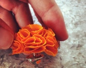 Orange MINI Garden Pinks Brooch