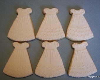 Baptism Communion Miniature Bride Dress or gown  Cookies (#2319)
