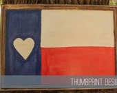 I Heart Texas Custom Hand Painted Distressed Upcycled Sign