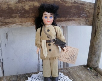 Vintage Carlson Frontiersman Collectible Doll - Antique Kids Toy for Boys + Girls, Vintage Gift for Kids, Gift for Children on SALE!!!