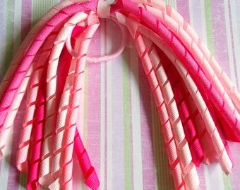 Pink Glitter korker pony streamer