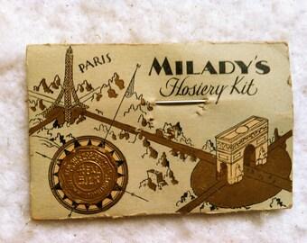 Vintage Milady's Hosiery Kit for Travel or Repairs