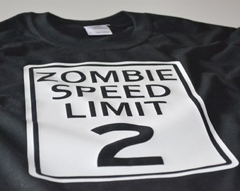 Childrens tshirt zombie t shirt boy girl kids teen funny dead creepy scary fast zombies birthday gift for son daughter teens