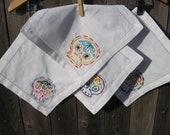 Made to Order-Set of 4 Mexican Sugar Skull Cocktail Napkins