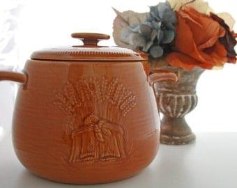 Harvest Franciscan Lidded Jar, Storage Container