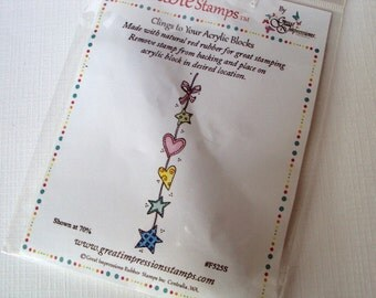 Stars and Hearts border cling stamp by Great Impressions