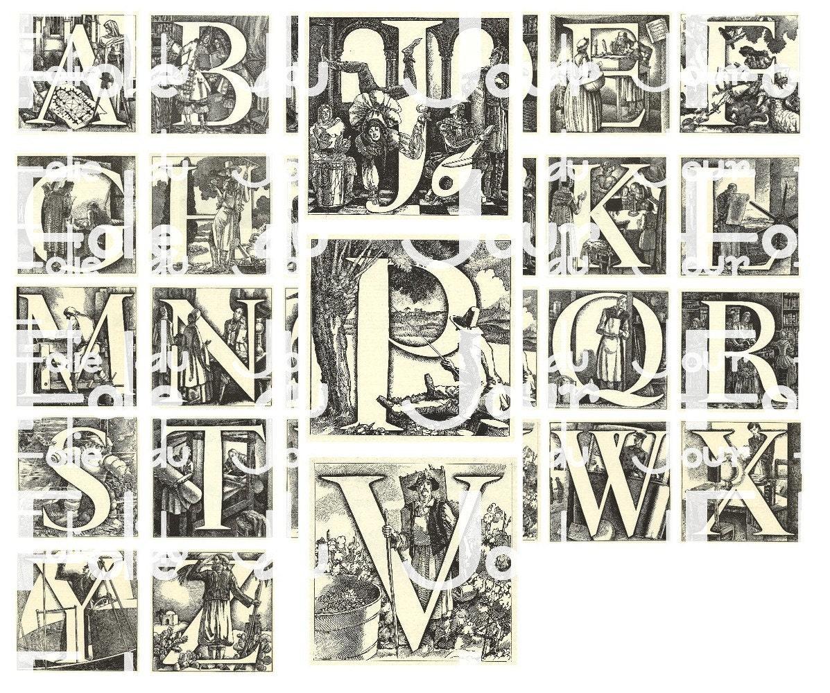 Illuminated Letter T Pretty Illuminated letter alphabet
