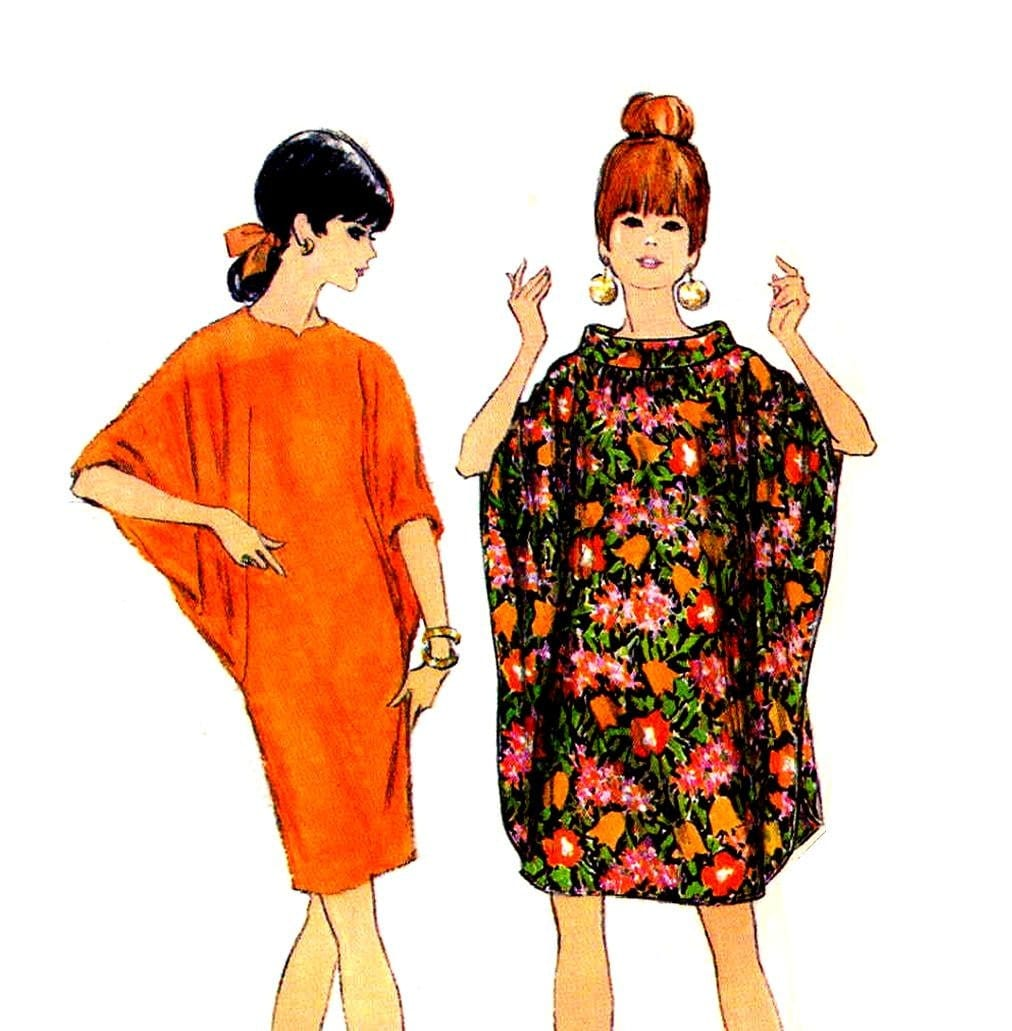 mod 1960s batwing dresses sewing pattern mccalls 9149 slim or
