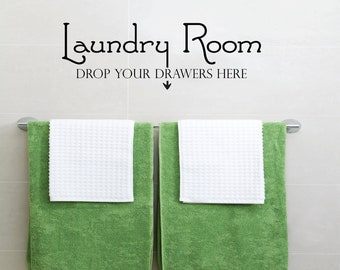 Laundry Room Decal - Wall Sticker