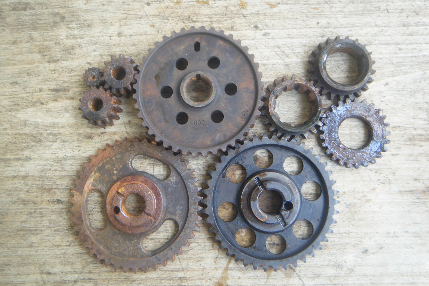 Industrial Wall Decor Farm Gears 9 Assorted Industrial Wall Art Steampunk