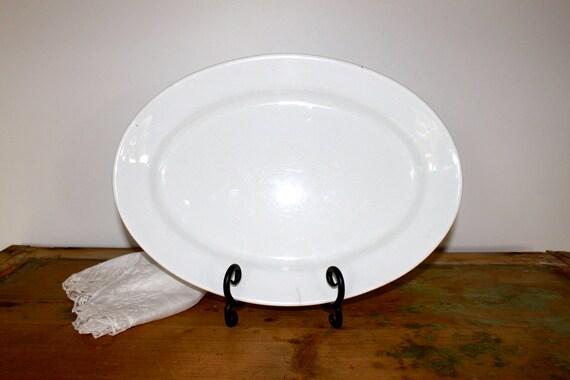 Antique white ironstone platter