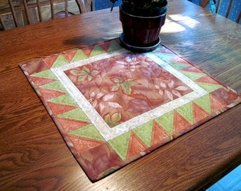 Table Topper, Quilted Table Topper, Handmade Quilted Table Topper, Traditional Table Topper, Patchwork Table Topper