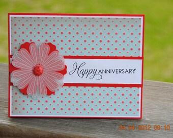 Handcrafted Vellum Flower Anniversary Card