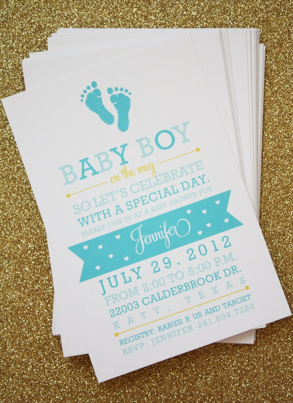 items similar to baby shower invitation post card baby boy on etsy