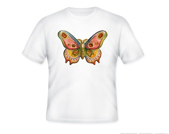 Vintage Colorful Moth Eyeglasses Advertisement Adult Tshirt  -- other tshirt color and personalization available - adult sizes S-3XL