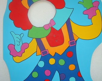 Circus or Carnival Themed Clown - Party Photo Props - Clown Event Photo Prop