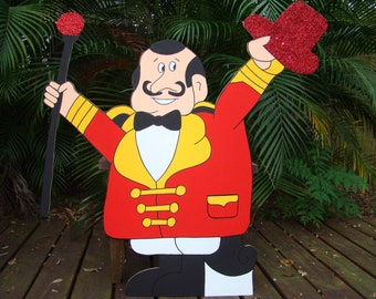 Wooden Ringmaster - Circus or Carnival Themed Party Decoration and Props