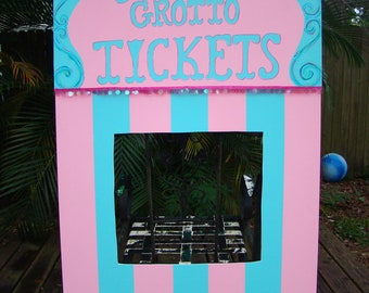 Carnival Ticket Booth - Carnival or Circus Themed Event Decoration and Party Prop - Customizable