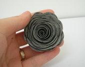 Custom Paper Roses (5) Silver/Grey