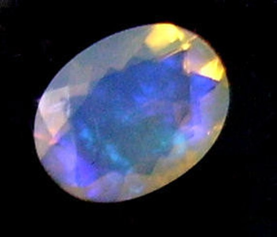 Ethiopian Welo Faceted Opal 9x7mm Oval 1.00cts