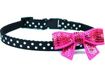 "Teacup Dog Collar 3/8"" Small Dog Collar with Bow"
