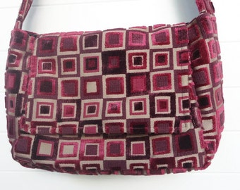 Insulated Lunch Bag Cut Velvet