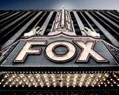 Detroit Photography - The Fox Theatre, Lit Sign, Detroit