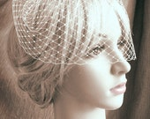 "9"" birdcage veil - one comb - MADE TO ORDER"
