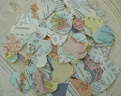 100 Assorted Vintage Atlas HEARTS in Small Bag