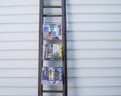 reserved for pierre & lucie - vintage industrial wooden extension ladder
