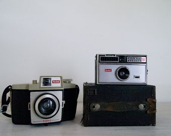 vintage film kodak camera collection