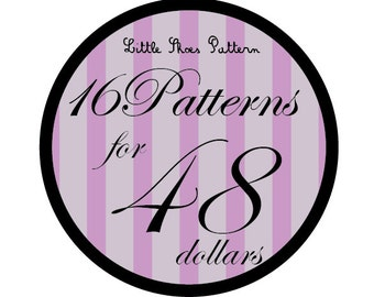 Great Deal - Buy 16 PDF Baby Shoes Pattens for 48 Dollars